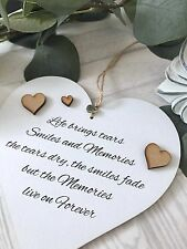 Life brings tears Large Heart Shabby Chic Gift 15cm Births/Wedding/Birthday S26