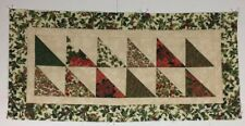 Christmas Patchwork Table Runner/Wall Hanging 14 x 30 Quilt Top