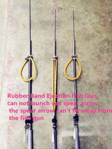 1Pc 304 Stainless Steel Rubber Band Ejection Fish Gun Diving Guns