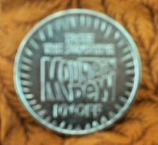 VINTAGE 1980 TASTE THE SUNSHINE MOUNTAIN DEW 10 CENTS OFF,#714 TOKEN OR COIN