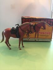Vintage Louis Marx Johnny West Horse Pony Pancho W/ Saddle & Accessories 1974