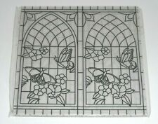 NEW Stampin' Up GRACEFUL GLASS 6x6 Vellum DSP (24) Sheets ~ Stained Glass Effect