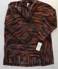 NEW $50 WOMENS sweater cowl neck striped= JOHN PAUL RICHARD = SIZE Medium = WH88