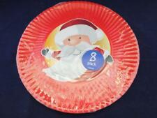 Disposable Paper Serving Plates Christmas Santa Pack of 24 - 11.7 inch Diameter.