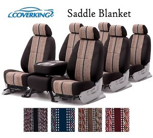 Coverking Custom Seat Covers Saddle Blanket 3 Row Set - 4 Color Options