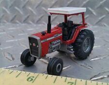 1/64 custom agco massey Ferguson 1155 tractor w/ canopy single rear farm toy