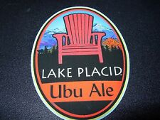 LAKE PLACID PUB & BREWERY Ubu Ale Chair STICKER decal craft beer brewing