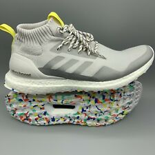 Adidas Ultra Boost Mid Running Shoes G26842 Men's Size 10 Grey White Multicolor