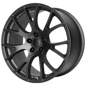 "20"" Inch Verde V1180 Hellcat  20x9.5 5x115 +18mm Satin Black Wheel Rim"