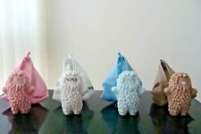 "BABY TREESON SET OF 4 WHITE-ALMOND-BLUE-PINK 3"" YEAR 2008"