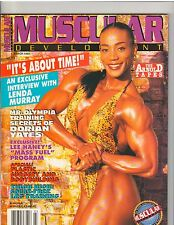 MUSCULAR DEVELOPMENT muscle magazine/Ms Olympia LENDA MURRAY with poster 3-93