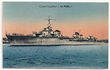 Carte postale Ancienne Contre Tropilleur Le Malin Bateau Navire Guerre