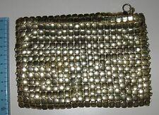 Borsellino / pochette maglia metallica oro -Whiting and Davis Co. anni 40