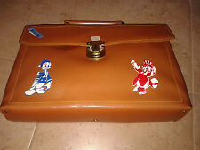 """Vintage early 80's Greek """" Donald Duck and Uncle Scrooge"""" pre school hand bag!!"""