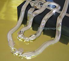 Elegante Schlangenkette + Armband als Set 40 45 50 55 60 Silber plattiert 6 mm