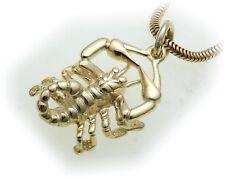 Colgantes Signo del Zodíaco Escorpio Oro Real 333 MACIZO 8kt Signos del zodiaco