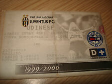 Billet Ticket Série à 1999/2000 Juventus Udinese 19/09/1999 Courbe Nord