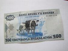 500 franków Ruandy 2013 rok st.1 AC nr przykładowy