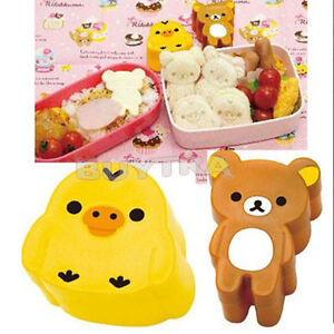 Cute Boiled Egg Sushi Rice Roll Cutter Bento Crafts Sandwich Mold Mould Tool ^