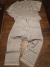 Vtg Nos 50's-60's 2-pc Men's Long Sleeve & Leg Pajamas Lounge Xl Long/Tall