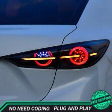 New For Mazda 3 Axela LED Taillights 2014-2018 Dark LED Rear Lamps Dynamic