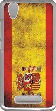 funda carcasa gel soft case ZTE Blade A452,bandera espana spain