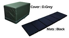 MULTI PURPOSE S.LEATHER MAGIC BOX YOGA GYM CUSHION FOLDABLE MATS DGREY COLOR