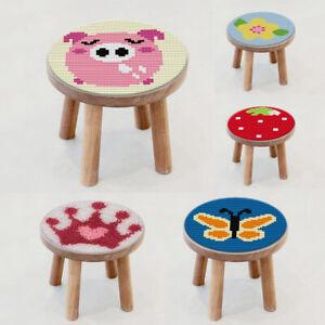 Runde Knüpfteppich Kits mit Tools für Kinder & Erwachsene zum DIY Geschenk /