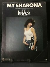 1979 My Sharona Sheet Music The Knack RARE Piano Guitar Voice Classic Rock T29