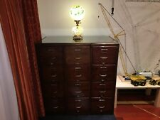 GORGEOUS ANTIQUE SOLID OAK 12 DRAWER FILING CABINETS