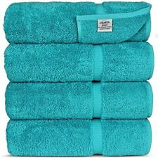 "Luxury Hotel & Spa 100% Cotton Premium Turkish Bath Towels, 27"" x 54 (Set of 4,"