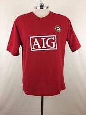 Manchester Super Reds Jersey Short Sleeve T-shirt Size M Made in UK