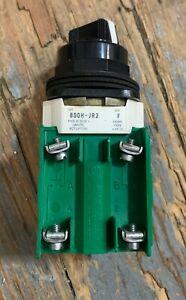 ALLEN BRADLEY 800H-JR2 SER F 3 W/800T-XAP SEALED CONTACT BLOCK & 800T-XA BLOCK