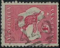 1d Kangaroo red BARRED NUMERAL 440 VICTORIA POSTMARK ROCHESTER* VIC CANCEL* RARE
