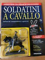 """"""" DRAGONE DELLA GUERRA COL MESSICO (USA 1847) """" SOLDATINI A CAVALLO DEAGOSTINI"""