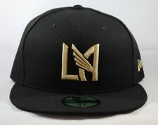 25cd0670adc38 LAFC New Era 59FIFTY Fitted Men Women Black Gold LA Icon Hat 7 1 8