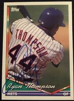 Ryan Thompson Autographed Topps 1994 Baseball Card #98 New York Mets