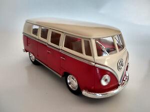 VW Bus Combi Volkswagen 1962 rouge et beige 13cm neuf metal