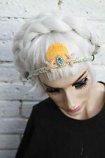 Mystical Mermaid Starfish Aqua Girl Crown Ariel Sea Shell  HeadBand Soft Grunge