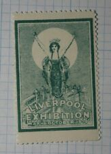 Liverpool Stamp Exhibition 1913 Philatelic Souvenir Ad Label Mnh
