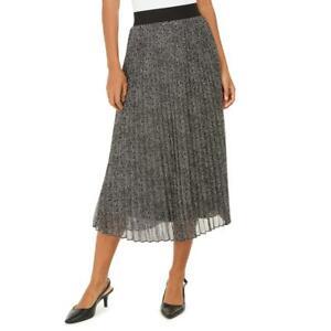 Alfani Womens Printed Pleated Mid Calf Midi Skirt BHFO 4724