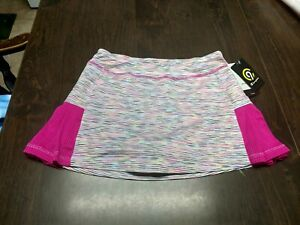 NWT Champion White Pink Multi-Colored Duo-Dry Skort Size Girl's 10/12