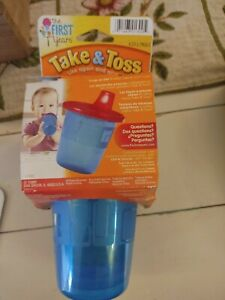 6-Pack 7 Ounce Take & Toss Spill-Proof Food Grade BPA Free Kids Sippy Cups-6m+