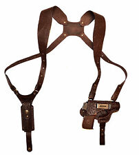 Shoulder gun holster Walther PPK, Bersa Thunder.380 Makarov genuine leather 127*