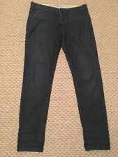 Mens Skinny River Island Button Fly Blue Jeans W36 L32