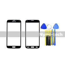 New Front Outer Screen Glass Lens For Black Samsung Galaxy S5 SM-G900H SM-G900W8