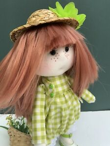 """OOAK CLOTH WALDORF STYLE DOLL """"LUCY"""" Hand Made"""
