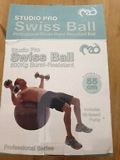 Swiss ball Studio Pro Ballon d'exercice 500 kg Burst Résistant 55 cm inc Pompe