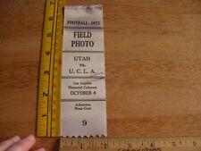 1973 UCLA vs Utah Football press pass ribbon Mark Harmon