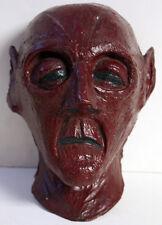 Fiberglass Casting Of Human Face Head Vintage Folk Art Optometrist Statue Unique